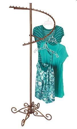 Spiral Clothing Rack, Elegant Garment Rack, Display Store Rack