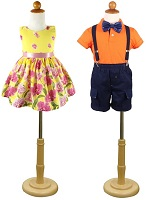 Children Jersey Forms,  Children Dress Form, Child Display Torso