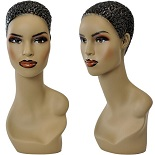 Afro American Mannequin  Display Head, Sunglasses Display, Hat Display Form, Jewelry Display, Female Scarf Display