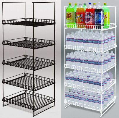 Bottled Water Display Snacks Rack Gas Station Floor Rack