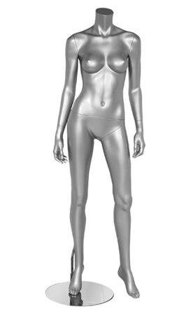 Female Silver Mannequin, Sexy Female Mannequin, Fashion Mannequin