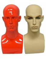 Male Mannequin Heads, Male Display Heads, Unique Display Forms