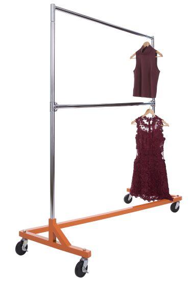 Rolling Garment Rack Z Rack Clothing Rack Clothing Rack