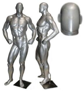Bodybuilder Male Mannequin, Muscled  Mannequin, Masculine Display Mannequin, Store Mannequin
