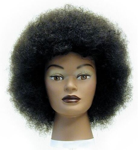 afro american african american haircut mannequin head training student hair