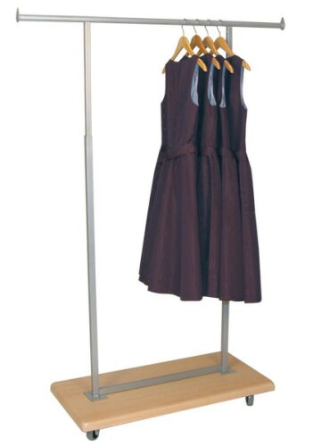 wooden rolling clothing rack, wooden display rack, wood garment rack, wooden  display