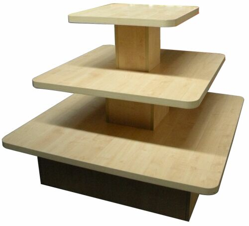 Marvelous Store Display Table, Display Isle Unit With Tiers